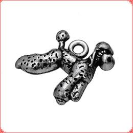 $enCountryForm.capitalKeyWord Australia - 30pcs Antique vintage Tibetan silver Poodle dog puppy charms metal dangle alloy pendants for necklace bracelet earring diy jewelry making