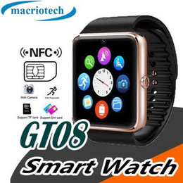 $enCountryForm.capitalKeyWord Australia - GT08 Bluetooth Smart Watch Smartwatch Bracelet with Camera SIM Card Slot Pedometer Smart Health Watch for Android and IOS Smartphone