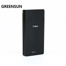E cig accEssoriEs casE online shopping - 100 Original New Greensun PodBay Portable Charging Case mAh E cig Quick Charger Spare Part Accessory