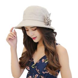 ea111ced8a1 Women Korean Flower Bucket Hat Cotton Linen Sun Caps Visor Summer Outdoor  Anti-UV Folding Fishing Hats Female Fisherman Cap