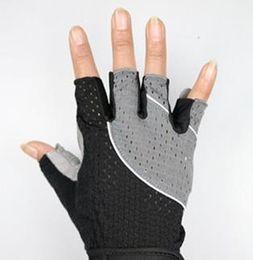 Leather Gloves For Men Australia - Fitness Gloves Half-finger Long Wrist Guard Sports Gloves for Men and Women Gymnasium Instruments Training