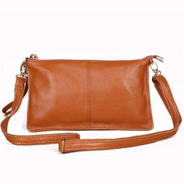 Genuine Leather Crossbody Handbags Wholesale UK - Pop Casual Genuine Leather Handbags High Quality Lady Party Purse Clutches Messenger Bags Women Crossbody Shoulder Evening Bag