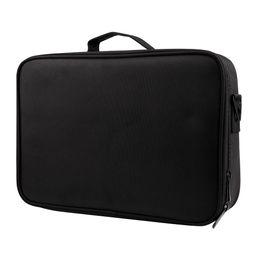 Discount large black cosmetic bags - FGGS-Large Capacity Makeup Case 3 Layers Cosmetic Organizer Brush Bag Makeup Train Case Artist Box For Hair Curler Hair