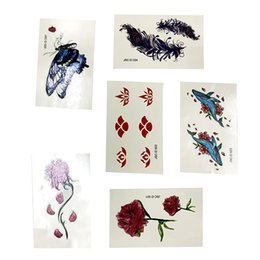 $enCountryForm.capitalKeyWord Australia - Beautiful Pattern Tattoos Decor Sticker Halloween Series Stickers Fake Makeup Party Water Proof Paster Grift For Girl