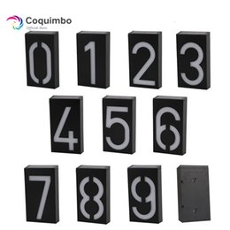 house numbers led lights Australia - New Arrival Solar Power Number Led Light Sign House Hotel Door Address Plaque Mailbox Digit Plate Solar Wall Door Lamp