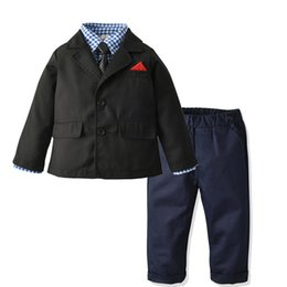 $enCountryForm.capitalKeyWord Australia - Toddler Boy Clothes Sets 2019 Kids Clothes Autumn Winter Children Clothing Boy Sets Gentleman Suit T-shirt+Trousers Outfits Suit