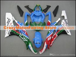R6 White Blue Australia - 3 Free gifts New Injection ABS Fairing Kits 100% Fitment For YAMAHA YZF-R6 06-07 YZF600 2006 2007 R6 bodywork set red blue green white color