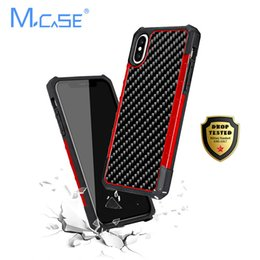 real carbon fiber cover NZ - Mcase Business Real Carbon Fiber Case For Iphone X Xs Case Shockproof Cover Luxury Soft Tpu Anti-shock For Iphone 7 8 7plus8plus J190701