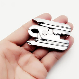 $enCountryForm.capitalKeyWord NZ - Multi-function Pliers 15 in 1 Fold Multi Combination Repair Tool Screwdriver Wrench Jaw Knife Mini Portable Keychain Hiking