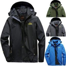 $enCountryForm.capitalKeyWord Australia - Men's Windbreaker Jackets Male's Zipper Assault Coat Autumn Sport Outdoor Pocket Cycling Jacket Hoodie Waterproof Sportwear