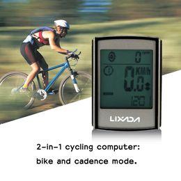 Bicycle Wireless Lcd Australia - cycling Lixada Wireless Bicycle Waterproof Speedometer Bike Computer Cycling Odometer with LCD Blue Backlight ABS Sensor