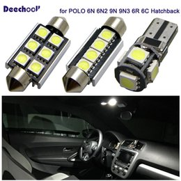 $enCountryForm.capitalKeyWord Australia - 12pcs Canbus Car LED Lights Bulb for Volkswagen VW POLO 6N 6N2 9N 9N3 6R 95+ Error Free LED Interior Lighting Map Dome Light