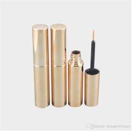 $enCountryForm.capitalKeyWord UK - 250pcs lot Free Shipping 8.0ml UV matte silver,golden,black cosmetic plastic bottle packaging empty eyeliner bottle liquid ink tube