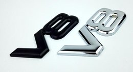 wholesale jeep doors NZ - High Quality 10pcs lot Wholesale 3D Metal V8 Emblems badge stickers for Audi  VW   JEEP Ford bumper stickers car-styling AAA1