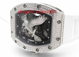 Wholesale eagle best online – design Men s luxury KV Factory Best Edition RM051 Eagle Diamonds Tourbillon Japanese Miyota Diamond Encrusted Bezel Automatic Men s Watch