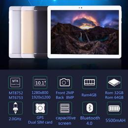 Dual Sim Tablets 4gb Ram Australia - Original 10 inch 3G 4G LTE Phone tablet PC Octa Core RAM 4GB ROM 64GB 1920*1200 IPS Dual SIM card tablets pcs 10.1 free Shipping