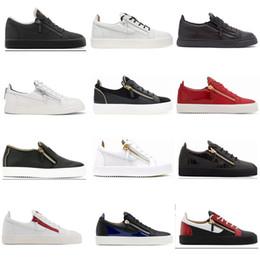 Zanotti роскошные соответствия цвета молнии Мужчины / Женщины низкий топ обувь подлинная обувь дизайнер кроссовки 35-47 Примечание размер в порядке