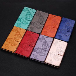 Discount pouch huawei g8 Butterfly Flip Wallet Leather Case For LG G8S G8 ThinQ V50 MOTO G7 Play Power Samsung Galaxy A50 A30 A20 Sony Xperia L3