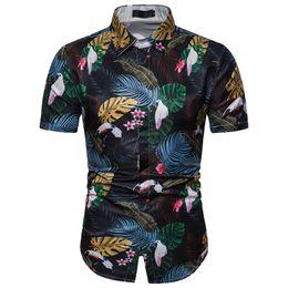 7be72b38212a Summer Fashion Beach Hawaiian Shirt Men 2019 New Short Sleeve Button Down  Tropical Aloha Shirt Holiday Party Camisa Hawaiana 3XL