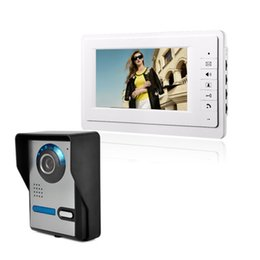 Screen Tft Lcd UK - 7 inch TFT LCD high definition screen Rainproof function Video intercom Doorbell night vision infrared function Automatic electric lock