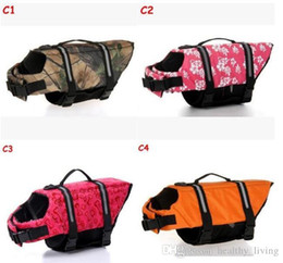 $enCountryForm.capitalKeyWord Australia - Pet Dog Life Jacket Safety Clothes for Pet Life Vest Summer Clothes Saver Swimming Preserver Swimwear Large Dog Life Jacket Top Quality
