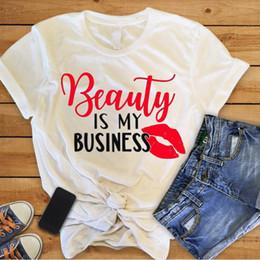 Beauty Salon Clothes NZ - Enjoythespirit Women T Shirt Beauty Business Is My Business I Love Makeup Artist Hair Salon Shirt Women's Clothing Good Quality Y19051301