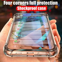 clear housing Australia - Clear Soft Bumper Shockproof Cover Case For huawei Y9 2019 honor 8C 7C Y7 7A Y6 Y5 Shell Air Cushion Silicone TPU housing