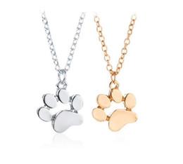 $enCountryForm.capitalKeyWord Australia - Cat paw Necklace cat footprint pendant Animal Paw Pendant 925 Silver chain Dog footprints Necklaces Fashion Jewelry for Women