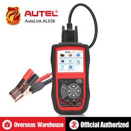 Großhandel Autel AutoLink AL539 Auto Codeleser OBDII Diagnosewerkzeug OBD2 Scanner Elektrische Spannung Test AVO Meter Batterie Tester Werkzeuge