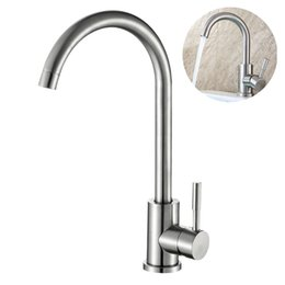 $enCountryForm.capitalKeyWord Australia - Stainless Steel Sink Faucet Deck Mount Durable Practical Silver Kitchen Tap Water Spout Swivel Design Bathroom Flexible Home