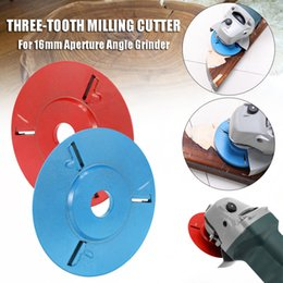 Cutter Tray NZ - Handle Milling Cutter Three Teeth Woodworking Tea Tray Digging Wood Carving Disc Tool for 16mm Aperture Angle Grinder