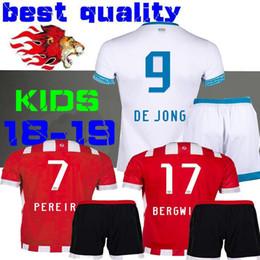 2018 new PSV Eindhoven home kids Jerseys H.LOZANO Erick Gutierrez L.DE JONG  Football BERGWIJN 18 19 PSV Eindhoven child Soccer Shirt 2e09965ea1935