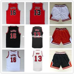 $enCountryForm.capitalKeyWord NZ - Pau Gasol #16 Joakim Noah #13 Basketball Jersey, Top Quality Stitched logos Men's Basketball Jersey Black Red And White Ncaa College