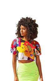 9c3479058c 2019 Smart Multicolored Pattern Printing Short T Shirts Summer Wear Short  Sleeves Crew neck Girl T Shirt Club Cropped Top and Tees