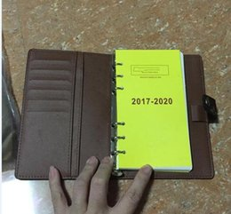 Genuine Leather Book Cover Australia - Famous Brand Agenda Luxury Note BOOK Cover Leather Diary Leather with dustbag and box card Note books Hot Sale Style silver ring