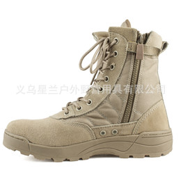 waterproof sneakers women NZ - Men desert tactical boots male Outdoor waterproof hiking shoes sneakers for women non-slip wear sports climbing shoes