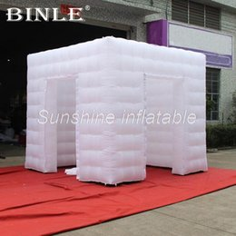 $enCountryForm.capitalKeyWord Australia - High quality 3mLx3mWx2.4mH inflatable photo booth with led lights inflatable photo booth tent photo booth cabin for sale
