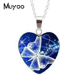 $enCountryForm.capitalKeyWord Australia - 2019 Hot Purple Magic Butterfly Heart Jewelry Necklace Beautiful and Mysterious Butterfly Pendant Heart Necklace Jewerly HZ3