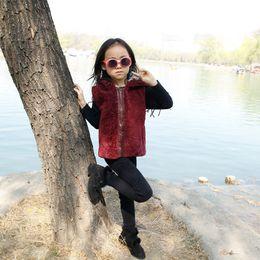 $enCountryForm.capitalKeyWord Australia - 2017 Children Genuine Rabbit Fur Coat Outwear Kids Girls Winter Solid Color Natural 100% Rex Rabbit Fur Coat Jacket For Girls