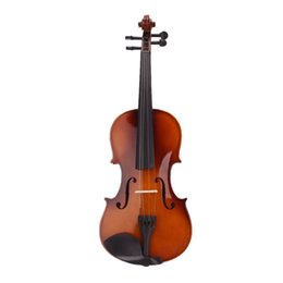 Electric Size UK - 4 4 Full Size Natural Acoustic Violin Fiddle with Case Bow Rosin free shipping