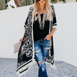 long black v neck blouse 2019 - Women's Coat Ladies Beach Summer Batwing Sleeve Casual Stylish Outdoor Loose Blouse Fashion discount long black v n
