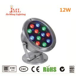 Luces de piscina JML para piscinas elevadas 12W 12V luces led para exterior IP68 iluminación impermeable 304 lámpara de acero inoxidable en venta