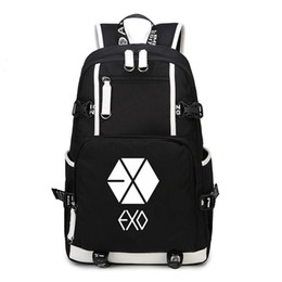Exo Backpacks Australia - kpop group EXO cool Backpack USB Charging Man Laptop Bag Kpop Print For boys girls Shoulder Bag Stylish fashion Cool Backpack