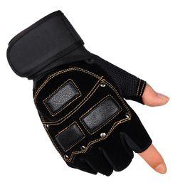$enCountryForm.capitalKeyWord UK - 1 Pair One Size Half-Finger Sport Gloves Exercise Training Wrist Support Anti-Slip Gloves Weight lifting Fitness Hiking Glove