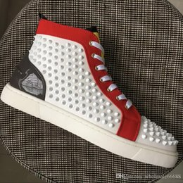 $enCountryForm.capitalKeyWord NZ - 2019 NEWEST Mens Real leather spikes high-top sneakers Low help Casual shoes flat