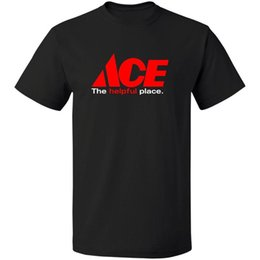 Top hardware online shopping - The Helpful Place Ace Hardware T Shirt Logo Cotton S XL Printed Round Men T Shirt Cheap Price Top Tee