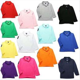 Kids Polo Tops Australia - 2019 Fashion Kids Polo t Shirt Children Lapel Long sleeve shirt Tops Clothing Brands Solid Color Tees Boys Girls Polo Classic Cotton shirts