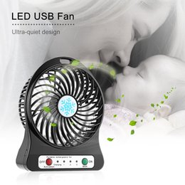 3000 led lights NZ - Portable Rechargeable LED Fan Air Cooler Mini Operated Desk USB Charging 3 Mode Speed Regulation LED Lighting Function