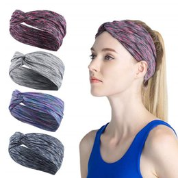 $enCountryForm.capitalKeyWord Australia - Cross Sport Headband Yoga Gym Headbands Quick Drying Elastic Headbands Working Out Hair Bands for Sports Fitness