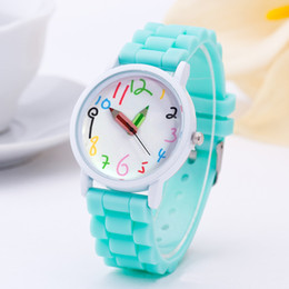 Discount pencil watches - Children Fashion Paint Quartz Watch Case Phone Case Pencil Watch White Oil Children